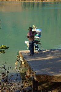 Ikigai Man painting plein air