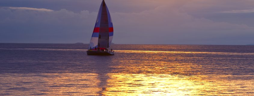 Sail boat Trim tab