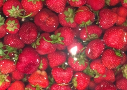 Fresh Strawberries at Midnight